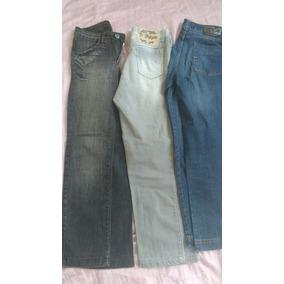 Lote 3 Calças 40 Semi Novas Roupas Usadas Jeans Feminino