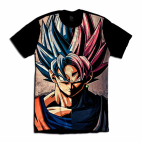 Camiseta Dragon Ball Super Camisa Anime Goku Zamasu Geek
