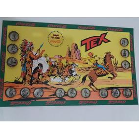 Coleção De Tampinhas Tex Willer Black C/ Cartela Autoadesivo