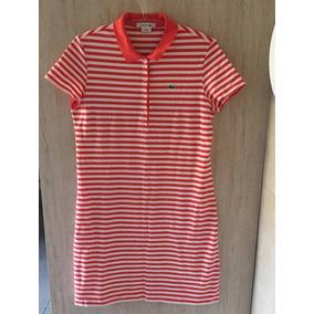 Vestido Polo Lacoste Com Cinto (m) Original Vestidos Saias ... 8633034d8d