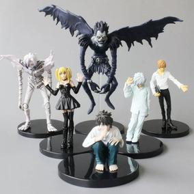 Kit Bonecos Death Note 6 Unidades Ryuk Kira L Misa Near Rem