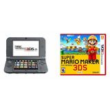 Nintendo 3ds Xl Negro Con Super Mario Maker Totalmente Nuevo