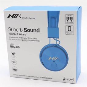 Audifonos Bluetooth Recargable Nia X3 Superb Sound