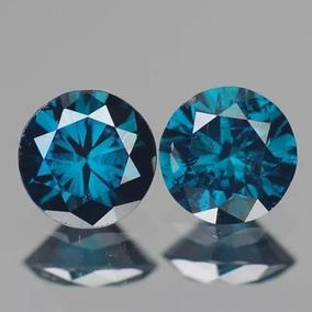 Lindo Par Diamantes Azuis Totalizando 20 Pts Vs2!