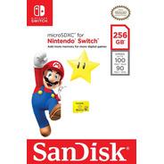 Memoria Sandisk Micro Sd 256gb Oficial Nintendo Switch Fac A