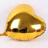 Balão Metalizado Coração Cores C/45cm 18 Polegadas Gás Hélio