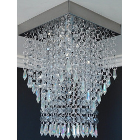 Lustre Pendente Cristal Acrilico Sala Jantar Moderno Es3037