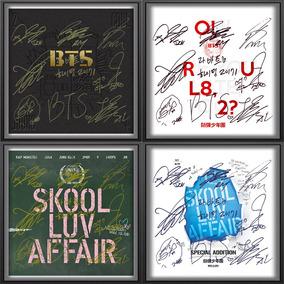 Bts Album Autografos 4 Cuadros Poster 25x25cm K-pop