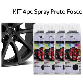 Kit 4x Sprays Envelopamento Líquido Multilaser Preto