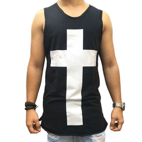 Regata Masculina Camisetas Blusas Camisetas Barra Oval Top