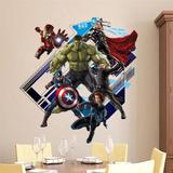 Adesivo Infantil Parede Heróis Avengers Vingadores Buraco 3d
