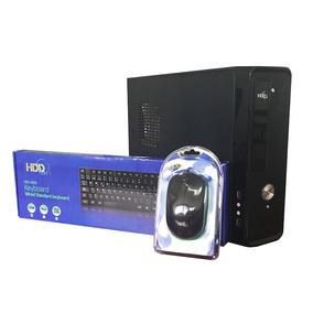 Case Pc Combo Ultra Slim Micro Atx Hdd 600w Teclado/mouse