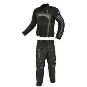 Conjunto Chamarra Pantalon Motociclista Protecciones R7-202
