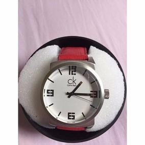 Relógio De Pulso Ck Calvin Klain Quartzo Clain Klein Couro