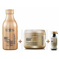 Kit Loréal Profissional Absolut Repair-shampoo+máscara+amp.