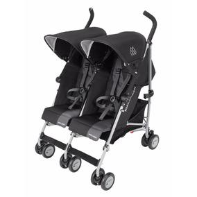 Carrinho Para Gêmeos Twin Triumph Black Charcoal Maclaren