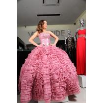 Vestido De Xv Años Palo De Rosa