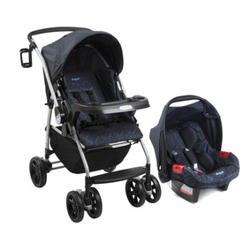 Conjunto Carrinho E Bebê Conforto Burigotto At6 K Netuno