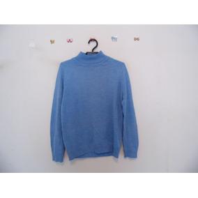 Suéter Feminino Azul Tricot Cód. 413
