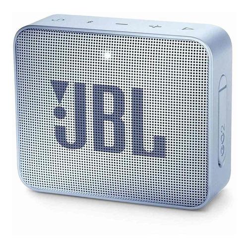 Alto-falante JBL Go 2 portátil com bluetooth icecube cyan