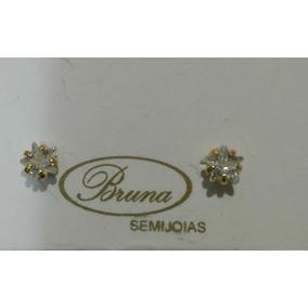 Promoção! Brinco Banhado Ouro 18k Semijoia Zirconia Estrela