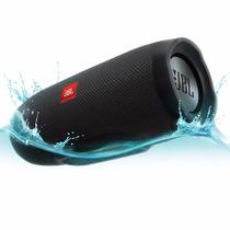 Caixa De Som Bluetooth Jbl Charge 3 - Preto Novo E Original