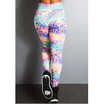 Legging Coloridas Leggs Estampadas Fitness Kit Com 10