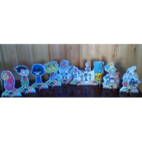 Kit Jovens Titans De Mesa,display,festa Infantil,mdf