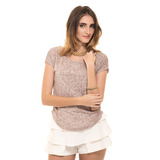 Franela Tigre Beige Ancha Lisa Saints Clothes