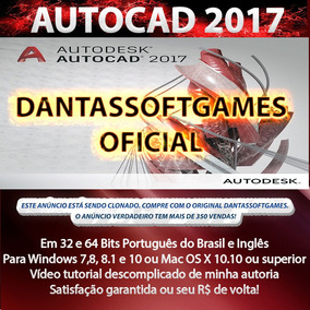 Autocad 2017 - 32 + 64 Bits Portugues Ou Ing - Win Ou Mac