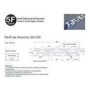 Kit De Perfil De Alumínio Estrutural Base 20x120x250mm