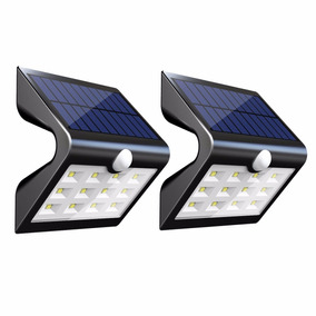 (3pza Pack) Lampara Solar Exterior 14 Leds (envio Gratis)