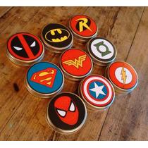 Latas-pastilleros-souvenirs De Comics Dc Marvel Superman