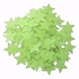 100 Estrela Teto Parede Fluorescente Adesiva Brilha Escuro