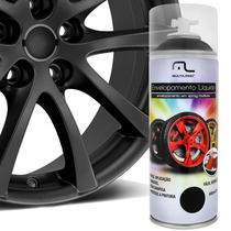 Envelopamento Líquido Spray 500ml - Preto Fosco