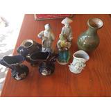 Lote De Floreros Y Figuras De Porcelana Antigua - Regalo!!