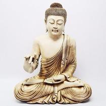 Buda Resina Gigante Grande - Indonesia - Oriental - Hindú