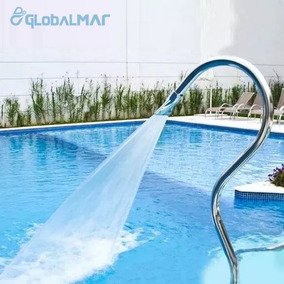 Cascata Para Piscina Aço Inox Tubular Splash Super Jato