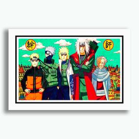 Quadro Naruto Shippuden Poster Anime Mangás Decorativo Sala