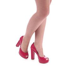 Peep Toe Salto Feminino Lara - Pink