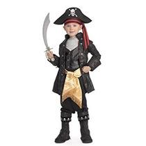 Disfraz Niño Piratas Del Traje Negro Capitán Del Seven Seas