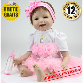 Boneca Bebê Reborn 53cm Pronta Entrega - Produto No Brasil