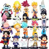 20 Miniaturas Dbz Goku, Vegeta, Gohan, Sr Kaioh, Mr Satan