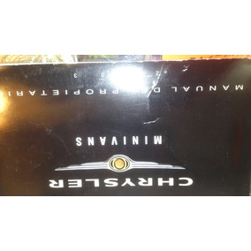 Manual De Propietario Minivans Chrysler,town & Country, 2003