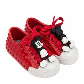 Tênis Mini Melissa Polibolha Disney Vermelho Origina X323780