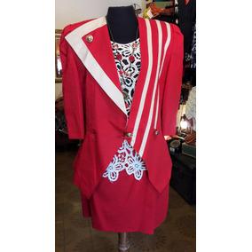 Traje Rojo Combinado Alta Costura