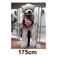 Urso Creme Branco Grande Gigante 1,75 Mt 175cm Casa Do Urso