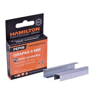 Grapas Para Engrapadora 6mm Caja X 1000u. Hamilton Pep06