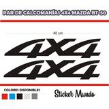 Calcomania 4x4 Para Camioneta Mazda Bt-50 B2600