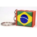 150 Chaveiro Tijolo Tijolinho Personalizado Etiqueta Resinad